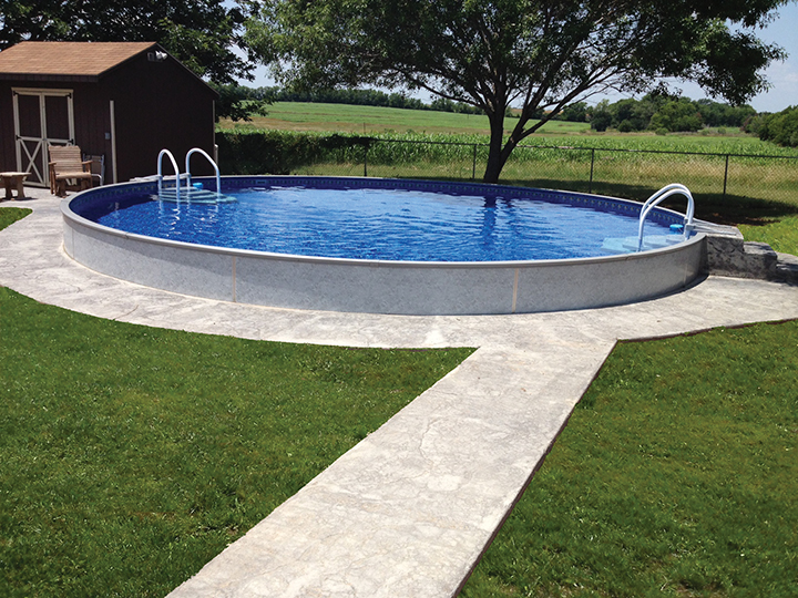 Alpine pools western pennsylvania 39 s pool and spa dealer for Half in ground pool ideas