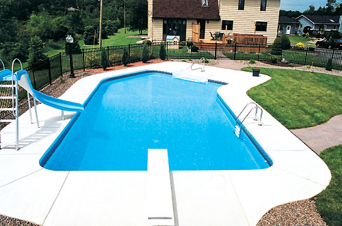 in ground swimming pool plastic inground pools gallery alpine western pennsylvanias pool and spa dealer